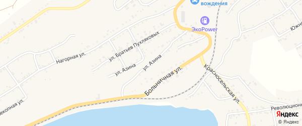 Улица Азина на карте Катава-Ивановска с номерами домов
