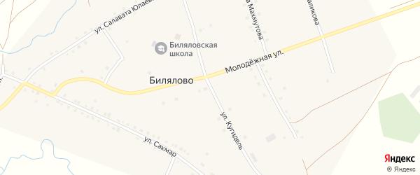 Улица Кугидель на карте села Билялово с номерами домов