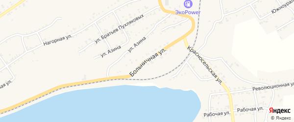 Больничная улица на карте Катава-Ивановска с номерами домов
