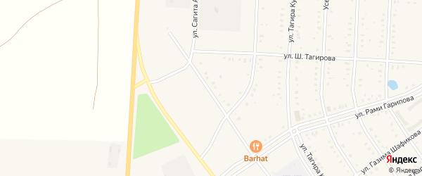 Улица Сагита Агиша на карте села Акъяра с номерами домов
