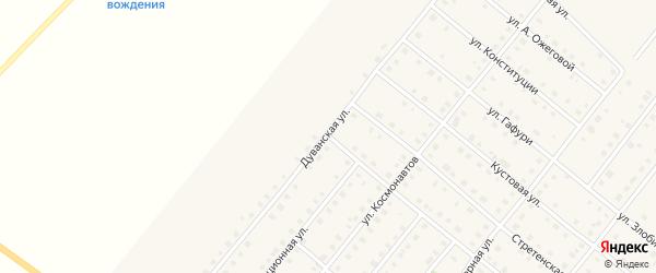 Дуванская улица на карте села Месягутово с номерами домов