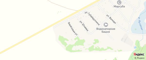 Березовая улица на карте села Азикеево с номерами домов