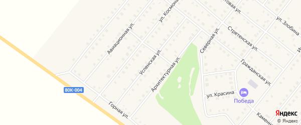 Успенская улица на карте села Месягутово с номерами домов