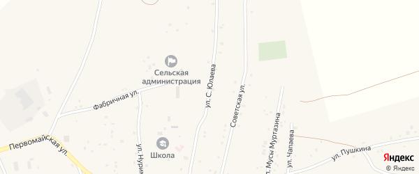 Улица С.Юлаева на карте села Тубинского с номерами домов
