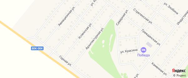 Архитектурная улица на карте села Месягутово с номерами домов