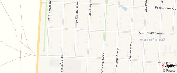 Улица Хайбуллы на карте села Акъяра с номерами домов