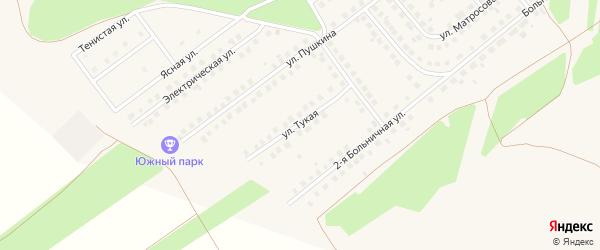 Тукая улица на карте села Месягутово с номерами домов