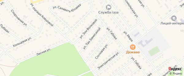 Улица Таи Замесиной на карте села Месягутово с номерами домов