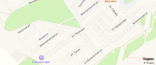 Улица Пушкина на карте села Месягутово с номерами домов