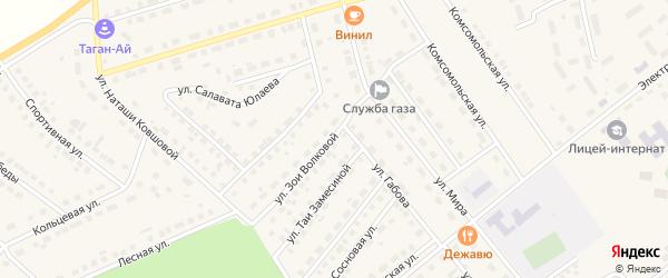 Улица Зои Волковой на карте села Месягутово с номерами домов