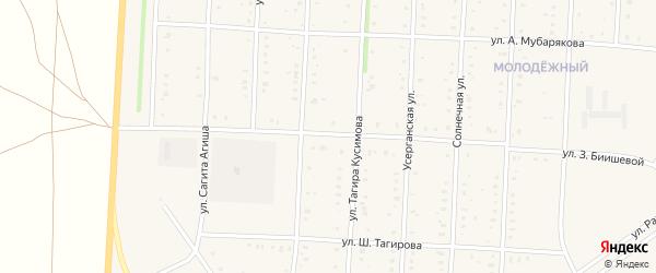 Улица Зайнаб Биишевой на карте села Акъяра с номерами домов