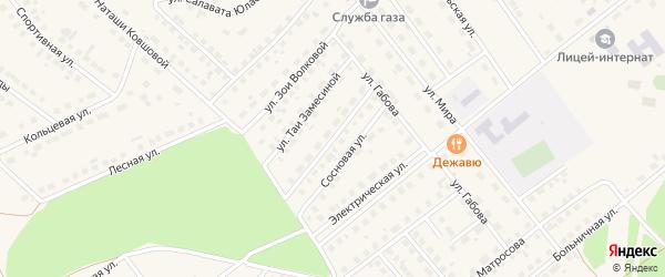 Улица Черепахина на карте села Месягутово с номерами домов