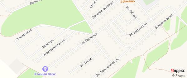 Улица Достоевского на карте села Месягутово с номерами домов