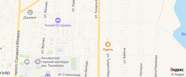 Улица Тухвата Мурата на карте села Акъяра с номерами домов