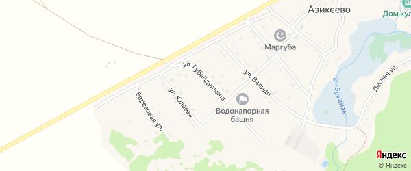 Улица З.Валеди на карте села Азикеево с номерами домов