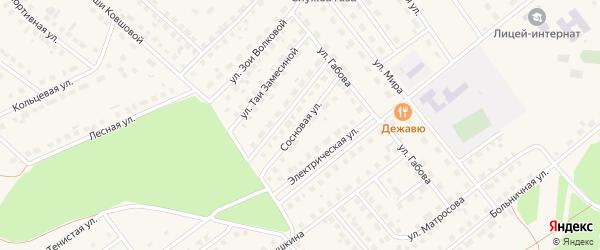 Сосновая улица на карте села Месягутово с номерами домов