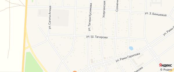 Улица Шарафея Тагирова на карте села Акъяра с номерами домов