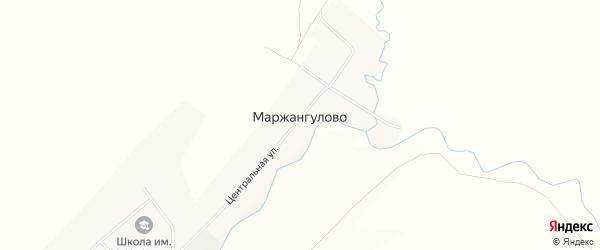 Карта деревни Маржангулово в Башкортостане с улицами и номерами домов