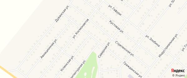 Гражданская улица на карте села Месягутово с номерами домов