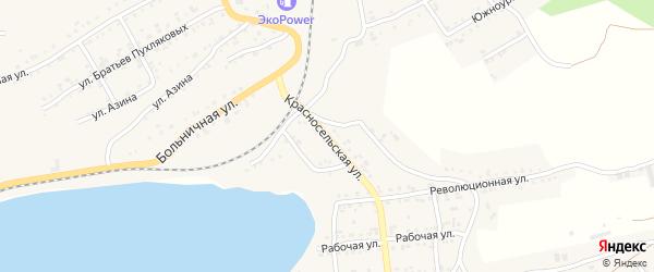 Красносельская улица на карте Катава-Ивановска с номерами домов