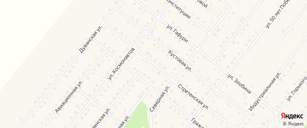 Стретенская улица на карте села Месягутово с номерами домов