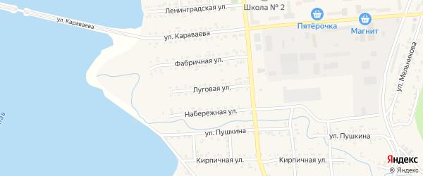 Луговая улица на карте Катава-Ивановска с номерами домов