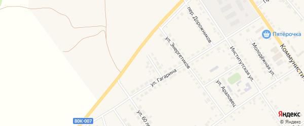 Переулок Гагарина на карте села Месягутово с номерами домов