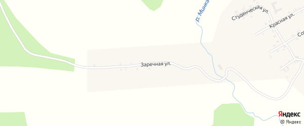 Заречная улица на карте села Минки с номерами домов