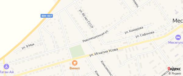 Революционная улица на карте села Месягутово с номерами домов