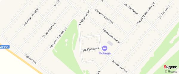 Техническая улица на карте села Месягутово с номерами домов