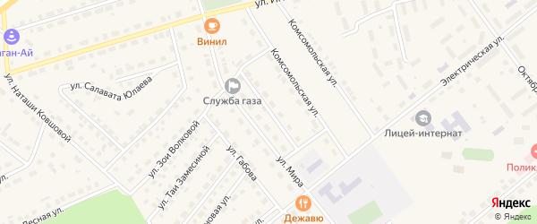 Профсоюзная улица на карте села Месягутово с номерами домов