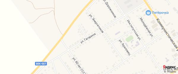 Улица Гагарина на карте села Месягутово с номерами домов