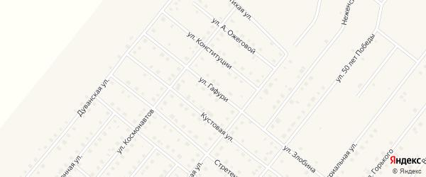Улица Гафури на карте села Месягутово с номерами домов