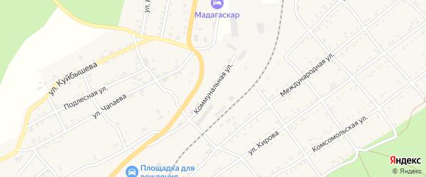 Коммунальная улица на карте Катава-Ивановска с номерами домов