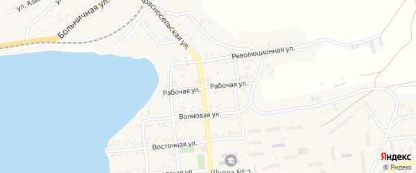 Рабочая улица на карте Катава-Ивановска с номерами домов