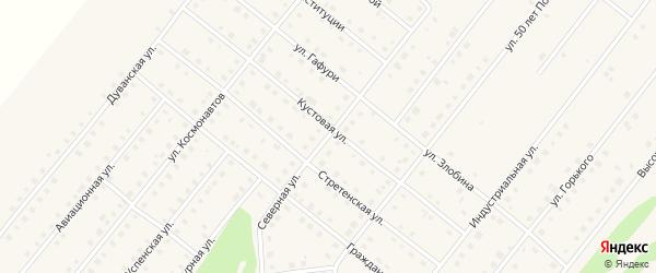 Северная улица на карте села Месягутово с номерами домов