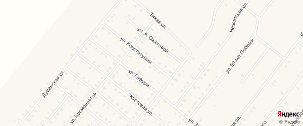 Улица Конституции на карте села Месягутово с номерами домов