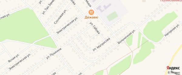 Переулок Габова на карте села Месягутово с номерами домов