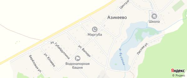 Улица Шаймуратова на карте села Азикеево с номерами домов