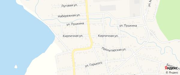 Кирпичная улица на карте Катава-Ивановска с номерами домов