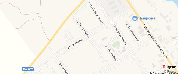 Улица Энергетиков на карте села Месягутово с номерами домов