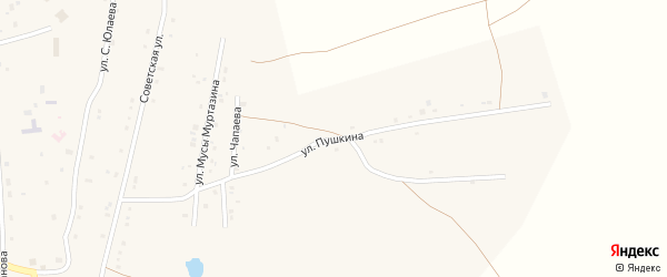 Улица Пушкина на карте села Тубинского с номерами домов