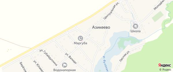Советская улица на карте села Азикеево с номерами домов