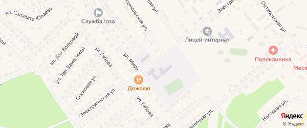 Электрическая улица на карте села Месягутово с номерами домов