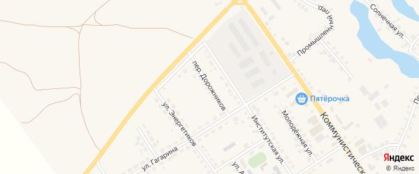 Переулок Дорожников на карте села Месягутово с номерами домов
