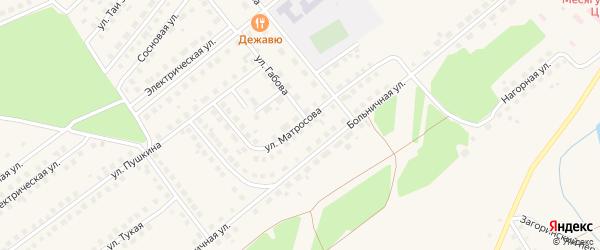 Улица А.Матросова на карте села Месягутово с номерами домов