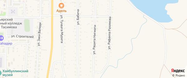 Улица Рашита Нигмати на карте села Акъяра с номерами домов