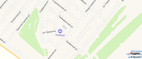 Индустриальная улица на карте села Месягутово с номерами домов