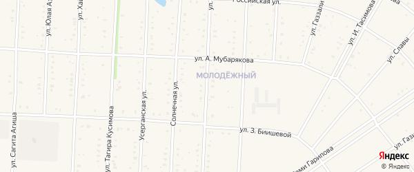 Улица Аксакова на карте села Акъяра с номерами домов
