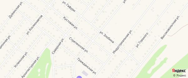 Улица 50 лет Победы на карте села Месягутово с номерами домов